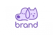Cat And Dog Pet Logo