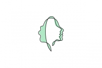 Woman Leaf Faces Logo