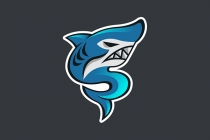 S Flaming Shark Logo