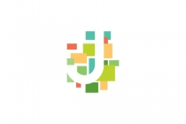 Colorful  J Letter...