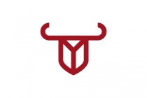 Y Bull Shield Logo