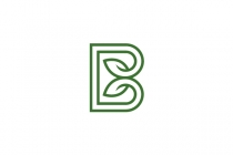 Letter B Leaves Logo