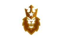 Lion Star Crown Logo
