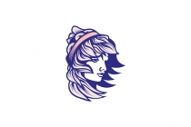 Face Young Girl Logo