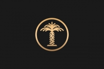 Golden Palm Tree Logo