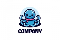 Cute Octopus Logo