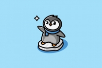 Cute Penguin Logo