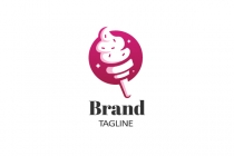 Ice Cream Flame Logo