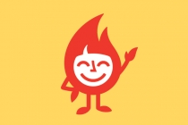Flame Character Logo