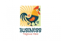 Colorful Rooster Logo