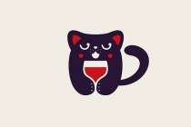 Drinking Cat Logo