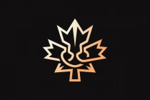 Lion Maple Leaf Logo