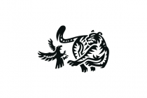 Eagle Vs Tiger Logo