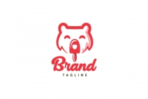 Bear Ice Cream Logo
