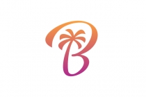B Palm Tree Logo