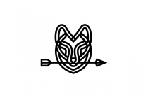 Arrow Wolf Head Logo