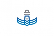Wings Lighthouse Logo