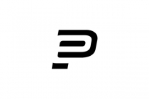 Letter P And E Logo
