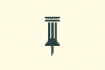 Greek Column Pin Logo