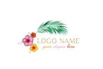 Tropical Flowers Logo
