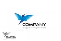 Flying Blue Bird Logo