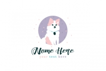 Cute Little Dog Logo
