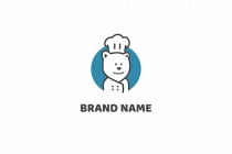 Polar Bear Chef Logo