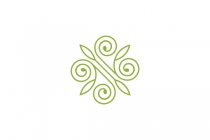 N Leaf Ornament Logo