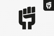 Protest Fist Letter G...