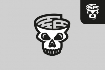 Skull Fake News Logo