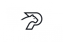 Letter P Panther Logo