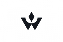 Letter W Crown Logo