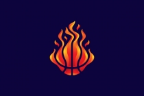 Fire Basketball Logo
