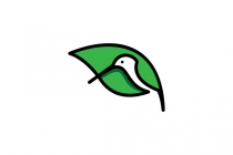 Hummingbird Leaf Logo