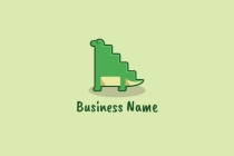 Cute Dino Stairs Logo