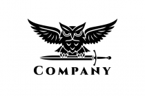 Secure Owl Sword Logo