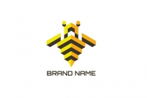 Isometric Bee Logo