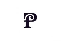 Fancy Pf Letter Logo