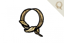 Letter Q Quill Logo