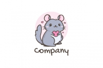 Cute Chinchilla Logo