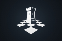 Chess Rook Tower Logo