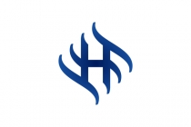 Blue Waves H Logo