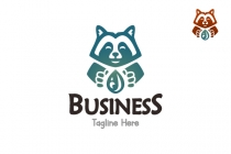 Cleaning Raccoon Logo