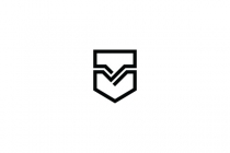 Letter V Shield Logo