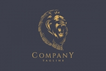 Engraved Lion Logo