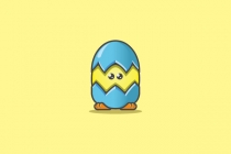 Cute Chicken Egg Logo