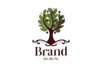 Oak Nut Tree Logo