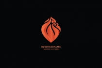 Chicken And Fire Logo