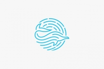 Dolphin Waves Logo
